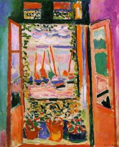 """The Open Window""  Henri Matisse, 1905, Oil on Canvas"