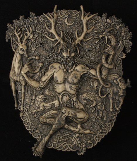 The Horned God - Cernunnos; Artist info was not listed with image.