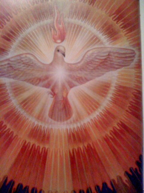 """Holy Spirit"" By Alex Grey.  Acrylic on wood.  1998.  Page 8 in Art Psalms."